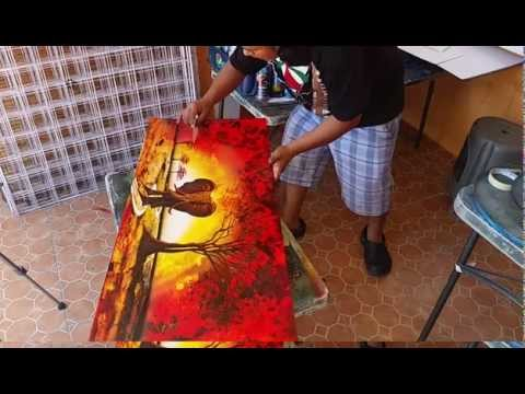 African elephant spray paint art