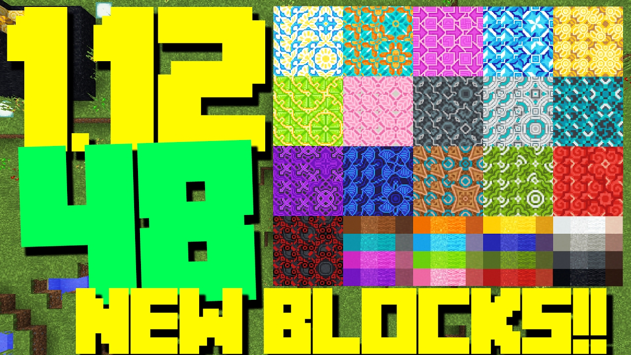 ALMOST 50 NEW BLOCKS!! NEW MINECRAFT 1 12 SNAPSHOT UPDATE!