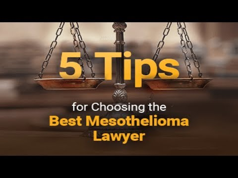 choose lawyers for mesothelioma