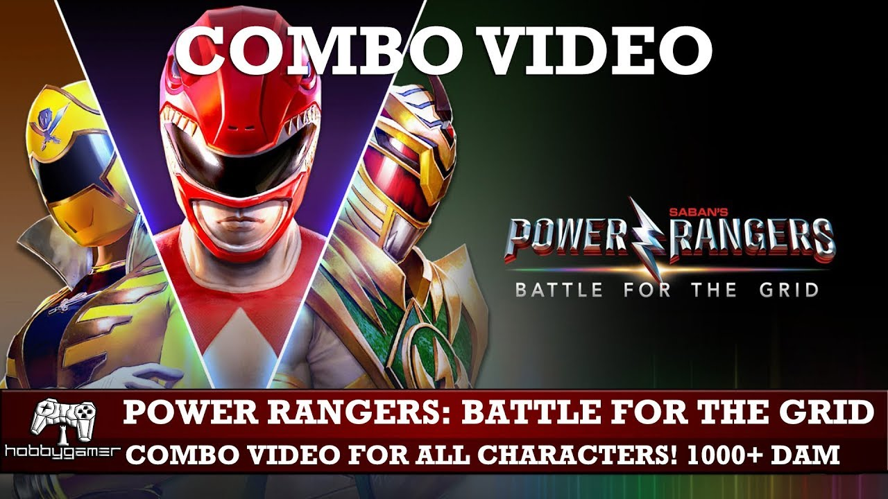 Power Rangers Battle For The Grid Combo Video All Characters Max Damage Over 1000