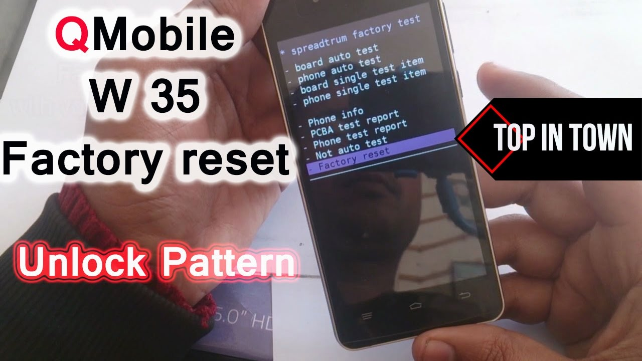 How to QMobile W35 Factory Reset