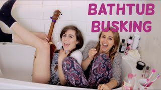 Lonely People cover with Dodie! | #BathtubBusking | Hannah Witton