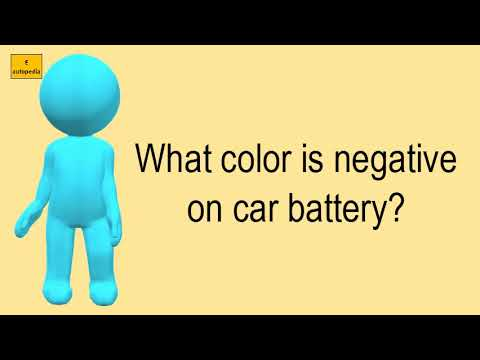 What Color Is Negative On Car Battery?