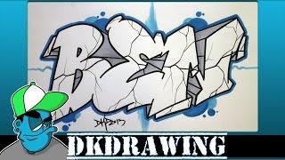 How to draw graffiti names - Ben #4