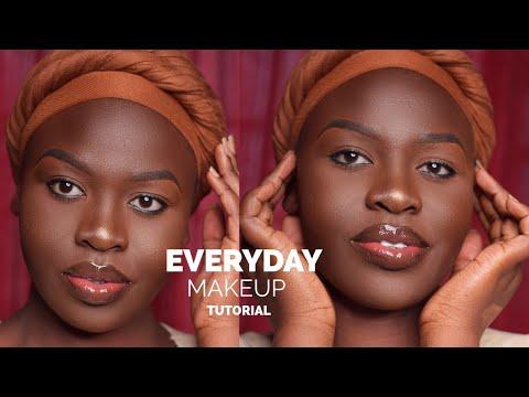 simple everyday makeup tutorial for darkskin  youtube