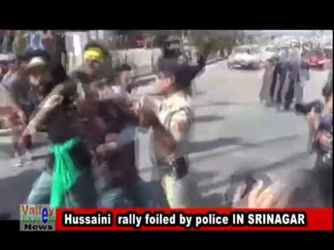 Hussaini  rally foiled by police IN SRINAGAR