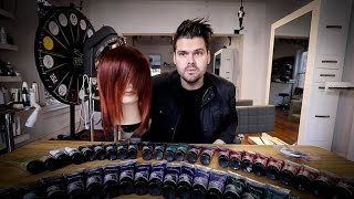 RUBY RED and ROSE PINK Hair Color Tutorial | MATT BECK VLOG 89