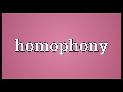 Header of homophony