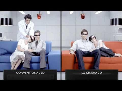 LG vs Samsung: 3D TV Screentest #6 - Head Position