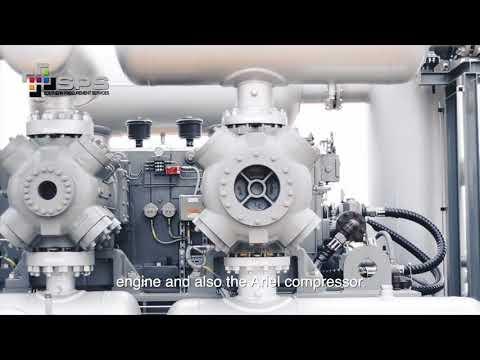 Gas Motor-compressor installation in El Tigre (Anzoategui, Venezuela):