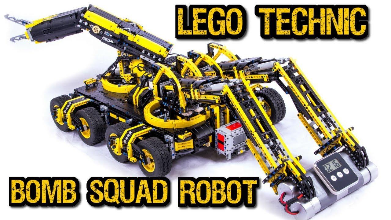 lego technic bomb disposal robot 19 motors youtube. Black Bedroom Furniture Sets. Home Design Ideas