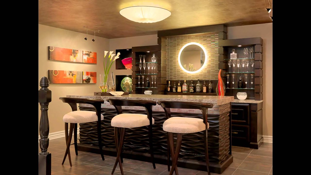 Your Family Room Bars and Bars Stools Design Ideas with Furniture in ...