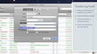 CheckBook Pro • Transferring funds between Accounts