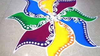fancy colour rangoli design - K82