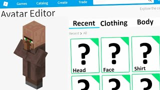How To Make A Minecraft Villager In Roblox!