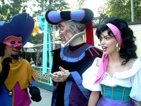 Greetings from Clopin, Esmeralda and Frollo!