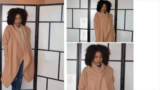 DIY// Camel Coat ( Sew Along With Pattern)
