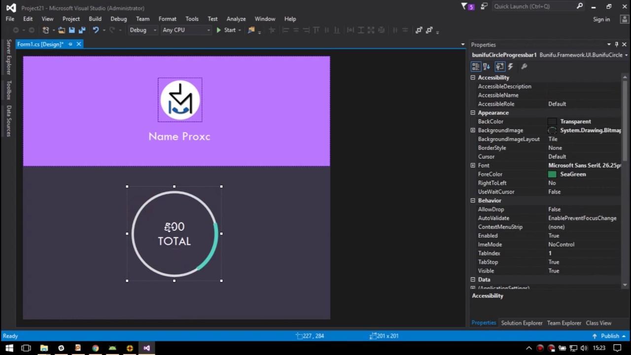 Simple Material UI Design VB / C#  NET