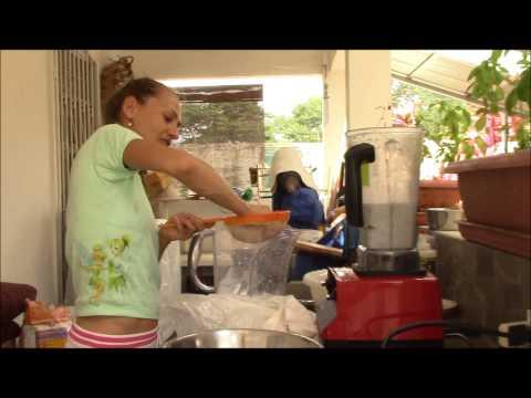 Making Fresh Coconut Milk in Costa Rica