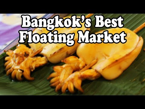 Thailand Street Food: Khlong Lat Mayom Floating Market Bangkok Thailand