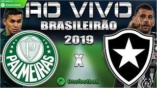 Palmeiras 1x0 Botafogo  Brasileirão 2019  Parciais Cartola FC  25ª Rodada  Narração