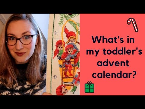 What's in my toddler's DIY advent calendar 2018