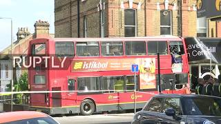 LIVE  Aftermath of London double decker crash