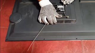 Cara menggantung tv led,lcd tanpa bracket,di dinding sangat simple,dengan perlengkapan sederhana