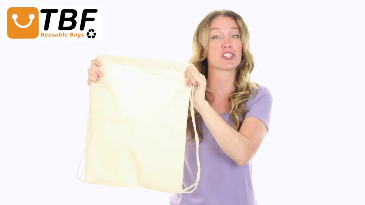6fd43e84073 Product Video - BPK18 - Economical Sport Cotton Drawstring Bag Cinch Packs