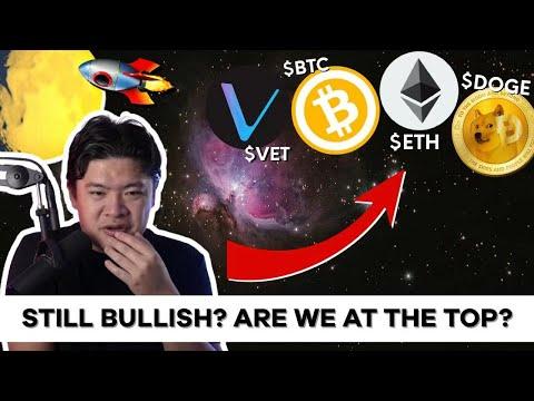 (Monday) Crypto and Bitcoin Livestream: Still bullish? Are we at the top?