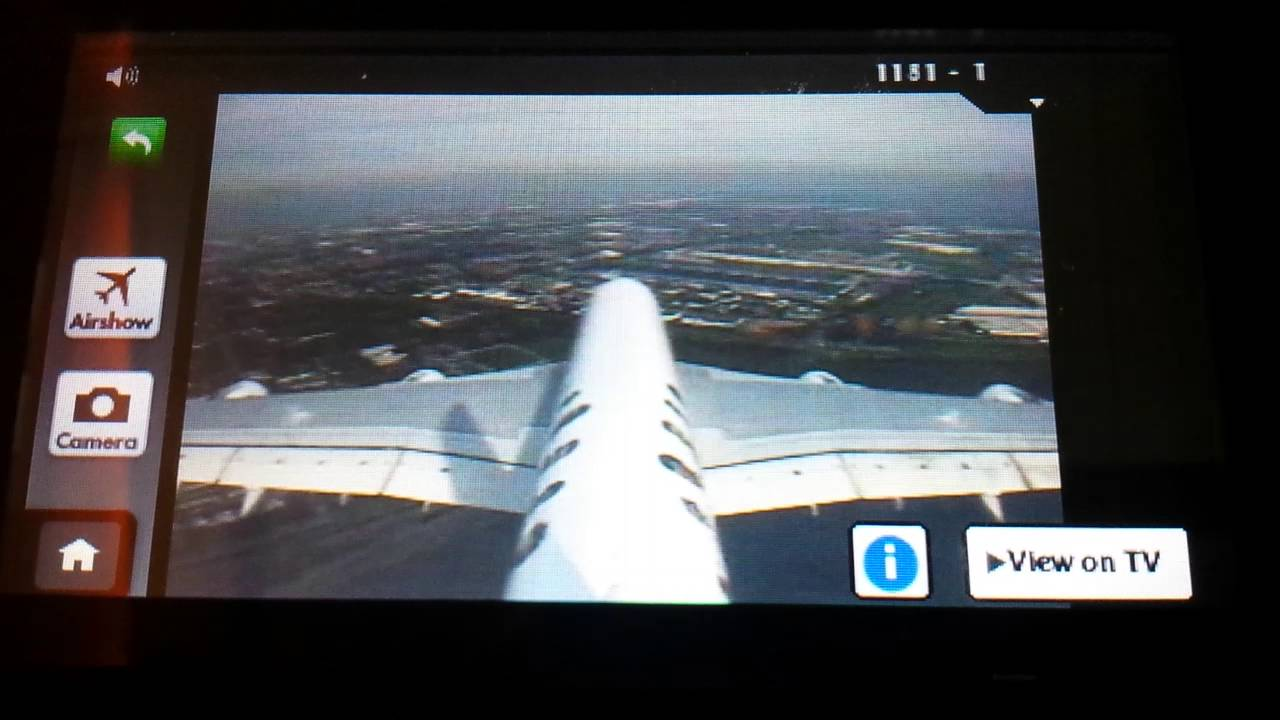 Tail camera view on emirates airbus a380 landing at - Emirates camera ...
