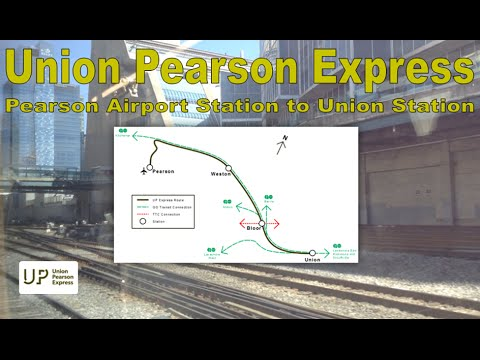 UP Express - UPX 2014 Nippon Sharyo DMU (Pearson Airport Station to Union Station)
