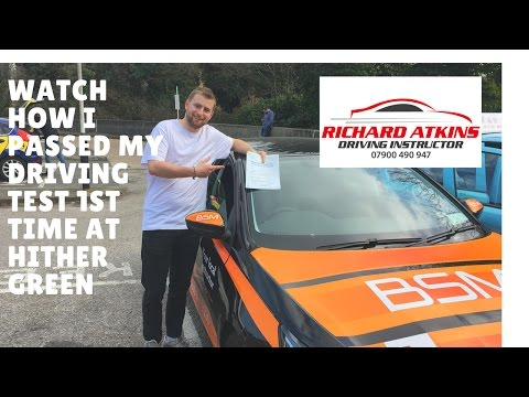 Hither Green Driving Test Route 16th March 2017  (Eli's Test)