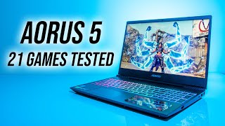 Aorus 5 NA (GTX 1650) Gaming Laptop Benchmarks - 21 Games Tested!