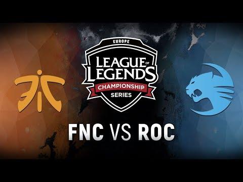 FNC vs. ROC - Week 8 Day 1 | EU LCS Spring Split |  Fnatic vs. Team Roccat (2018)