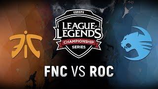 Video FNC vs. ROC - Week 8 Day 1 | EU LCS Spring Split |  Fnatic vs. Team Roccat (2018) download MP3, 3GP, MP4, WEBM, AVI, FLV Juni 2018