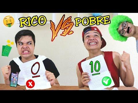 RICO VS POBRE NA ESCOLA #3 - FAZENDO PROVA !!!