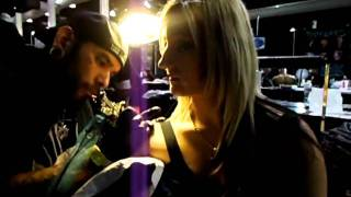 getting tatted at MUSINK 2011