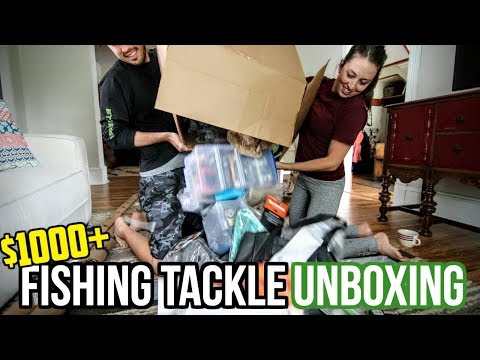 UNBOXING: $1,000+ of Fishing Tackle (My Winnings!)