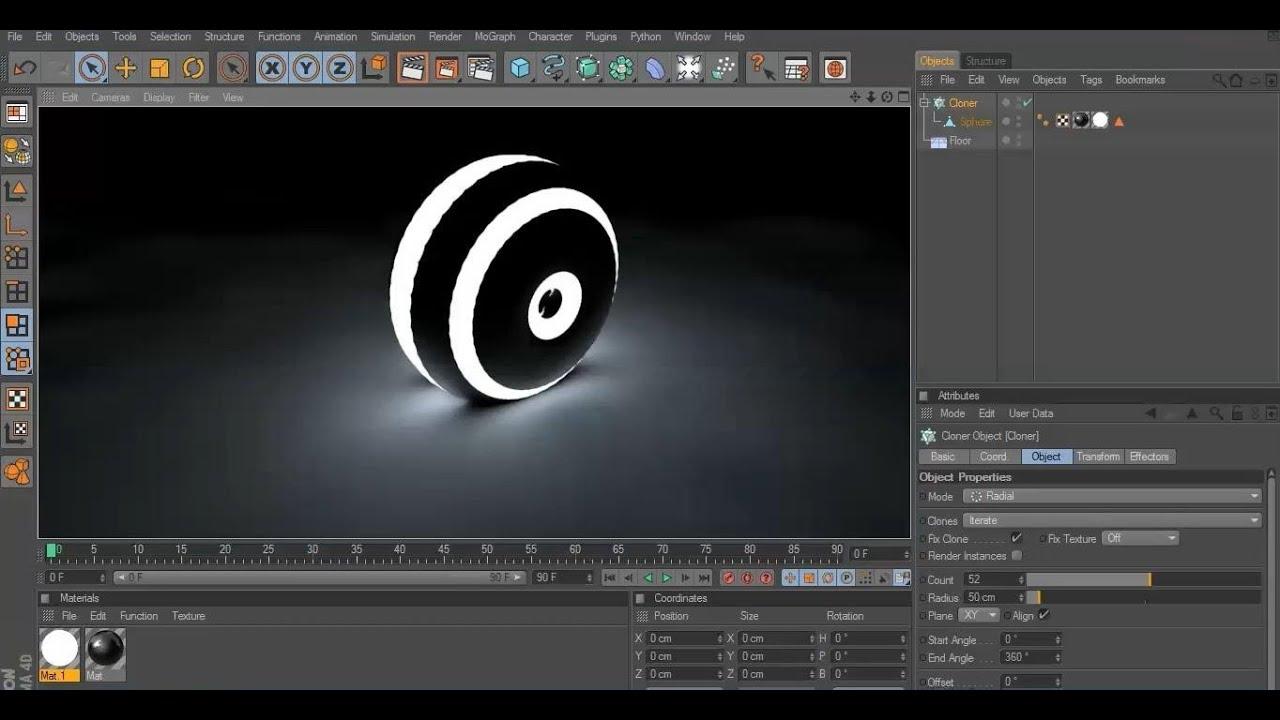 Cinema 4D Tutorial How make Light Object