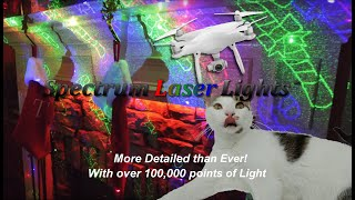 18 Pattern Moving Laser Christmas Lights SL-37 moving to IMAGINE DRAGONS - Thunder