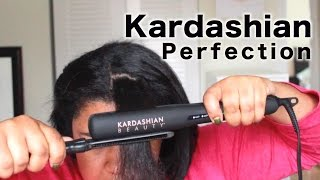 Perfection with the Kardashian Flat Iron!! | Curly Hair