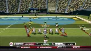 NCAA Football 14: Dynasty: Week 1: Oregon Ducks Vs. Arkansas Razorbacks