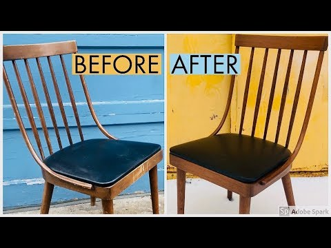 Mid Century Chair Restoration | Refinish | Reglue