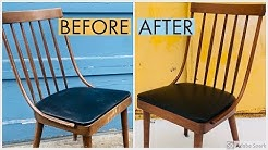 Mid Century Chair Restoration | Refinish | Reglue