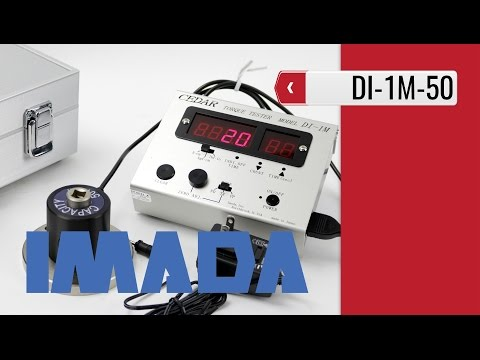 IMADA DI 1M - Torque Tester for Air Tools & Impact Wrenches (product video presentation)