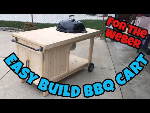 "How To Build a BBQ Cart for a 22"" Weber Kettle."