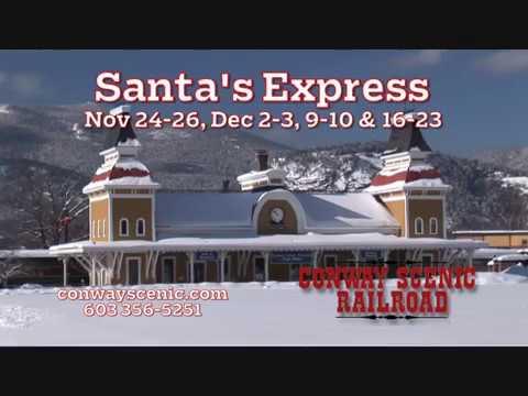 Conway Scenic Railroad's Santa Express Nov 24-26, Dec 2-3, 9-10 & 16-23