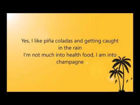 Escape (The Piña Colada Song) - Rupert Holmes (Lyrics on screen)