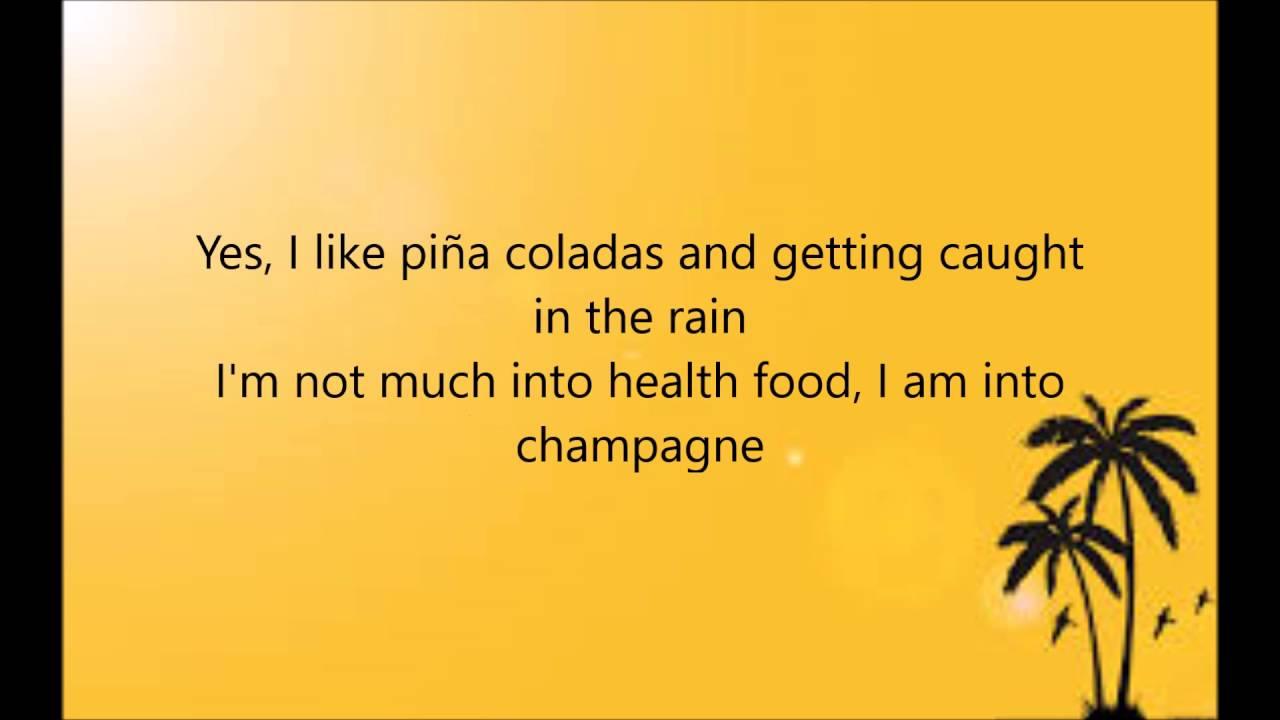 Escape The Piña Colada Song   Rupert Holmes Lyrics on screen ...